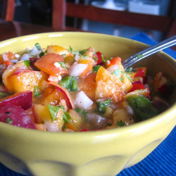 Peach Salsa (May Include Nectarine)