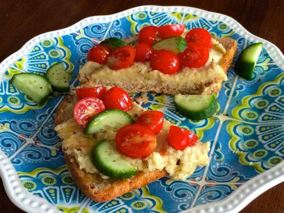Artichoke Hummus Sandwich