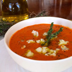 Roasted Red Pepper and Tomato Soup: A Mediterranean Take on an American Classic