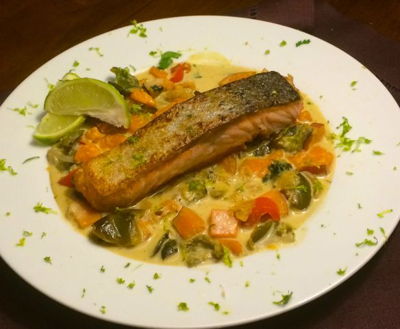 Salmon Green Curry | #pkway