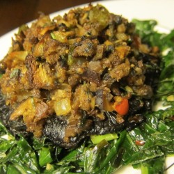 Healthy Holidays: Stuffed Mushrooms for Supper (Recipe)