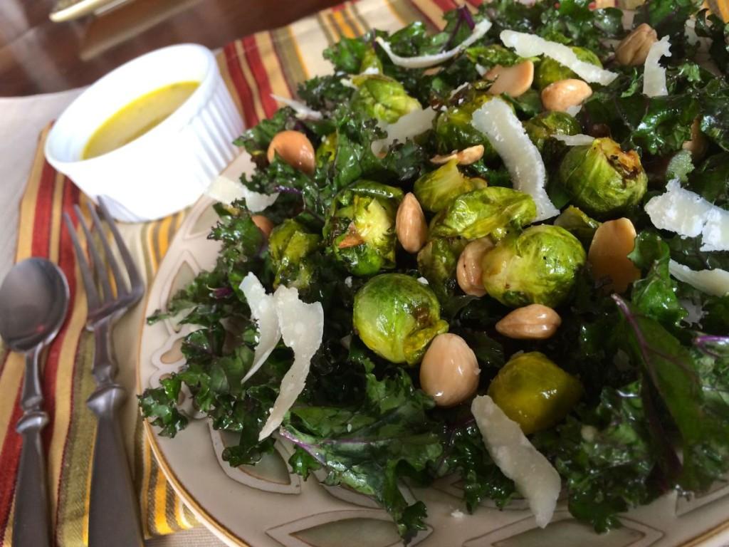Kale Salad with Parmigiana