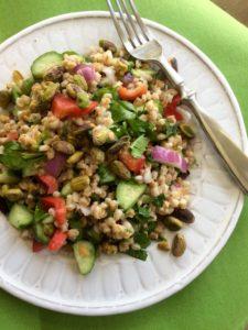 Simple Farro Salad | Mediterranean Diet