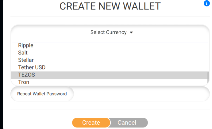 """Go back to dashboard and click """"Add new wallet"""""""