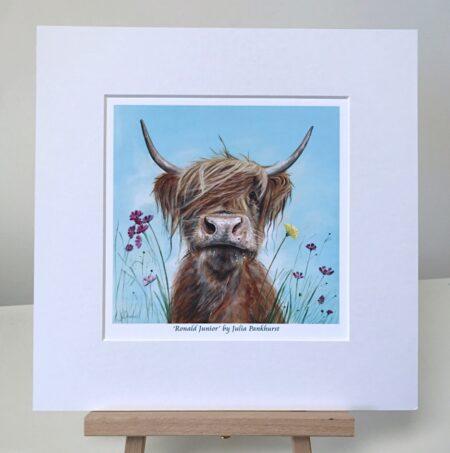 Ronald Jr Highland Cow Pankhurst Gallery