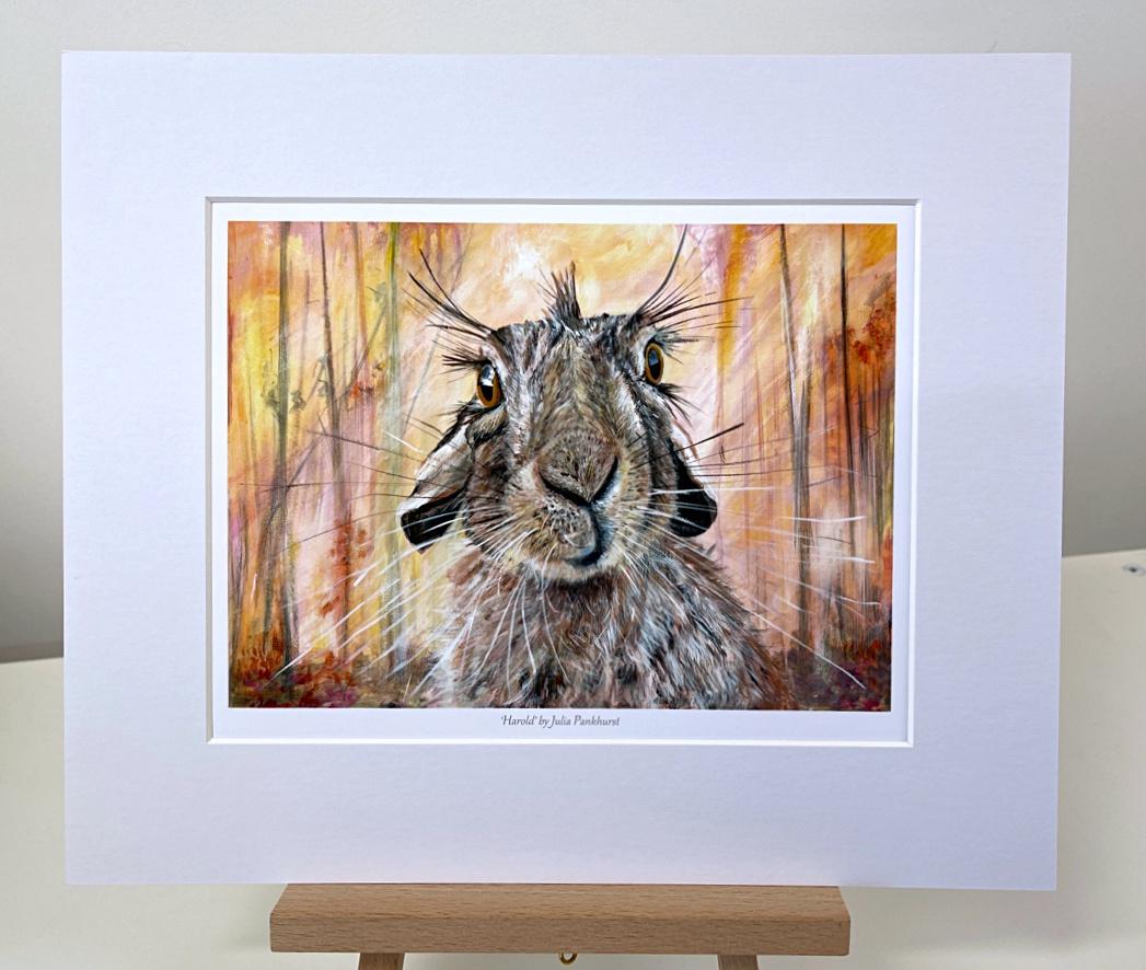 Harold Hare Animal Art Gift Print Pankhurst Gallery