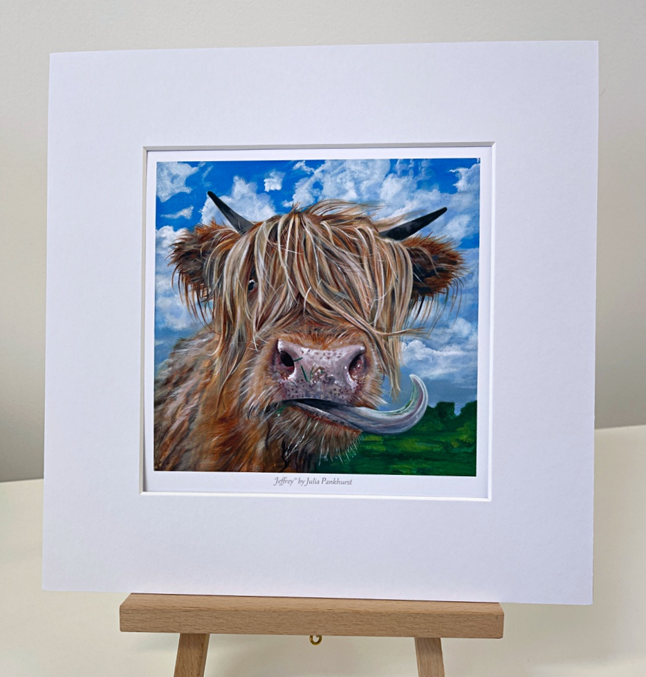 Highland Cow Jeffrey Gift Art Print Pankhurst Gallery