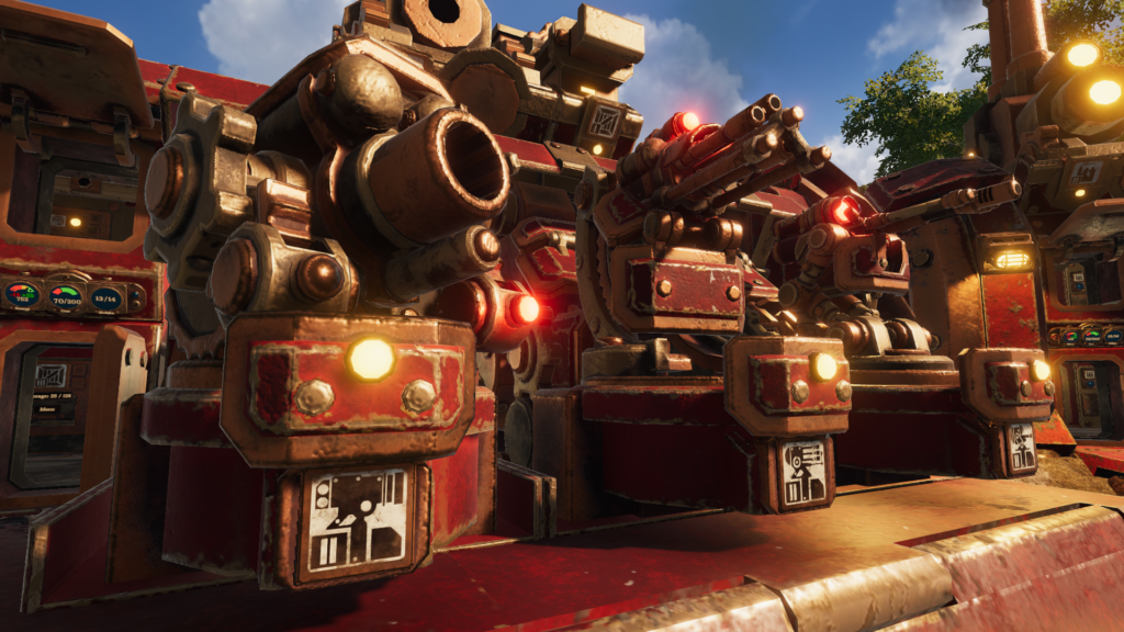 new base turrets mortar gatling and sniper added recently in volcanoids combat update
