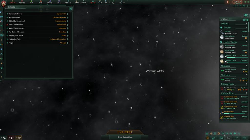 Policies Screen Stellaris