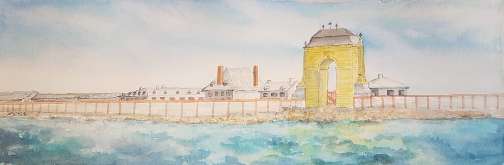 Sea gate at Fortress Louisburg