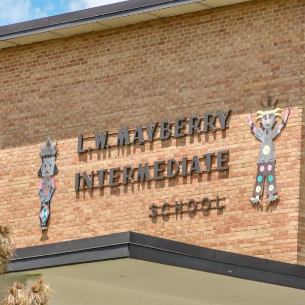L.W. Mayberry Intermediate School - 207 S. Sheridan - photo from 2009