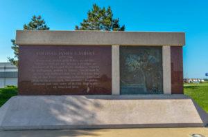 Colonel James Jabara Memorial Plaque - N. Jabara Road - by Randal Julian, 1985 - photo from 2009