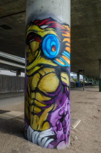 Untitled - overpass pillar on north side at Douglas - photo from 2016