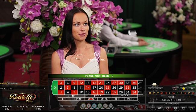 live roulette laptop