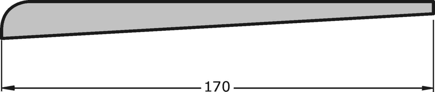 Luvia Round Edge Weatherboards 175x16mm Size