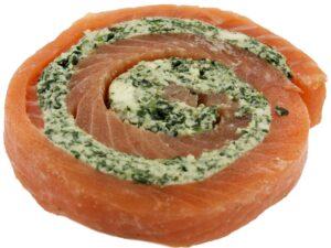 stuffed salmon pinwheel