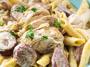 chicken-sausage-alfredo