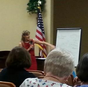 Heidi public speaking flip chart picture2