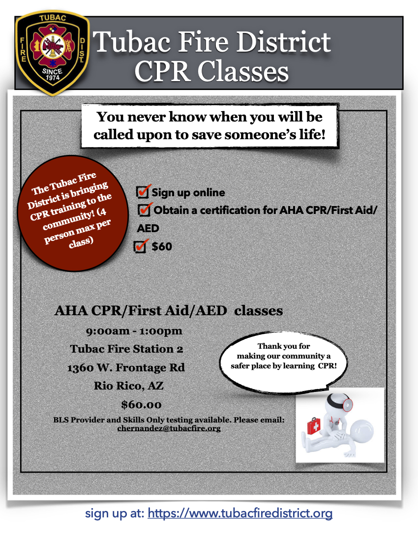 Tubac Fire CPR Flyer