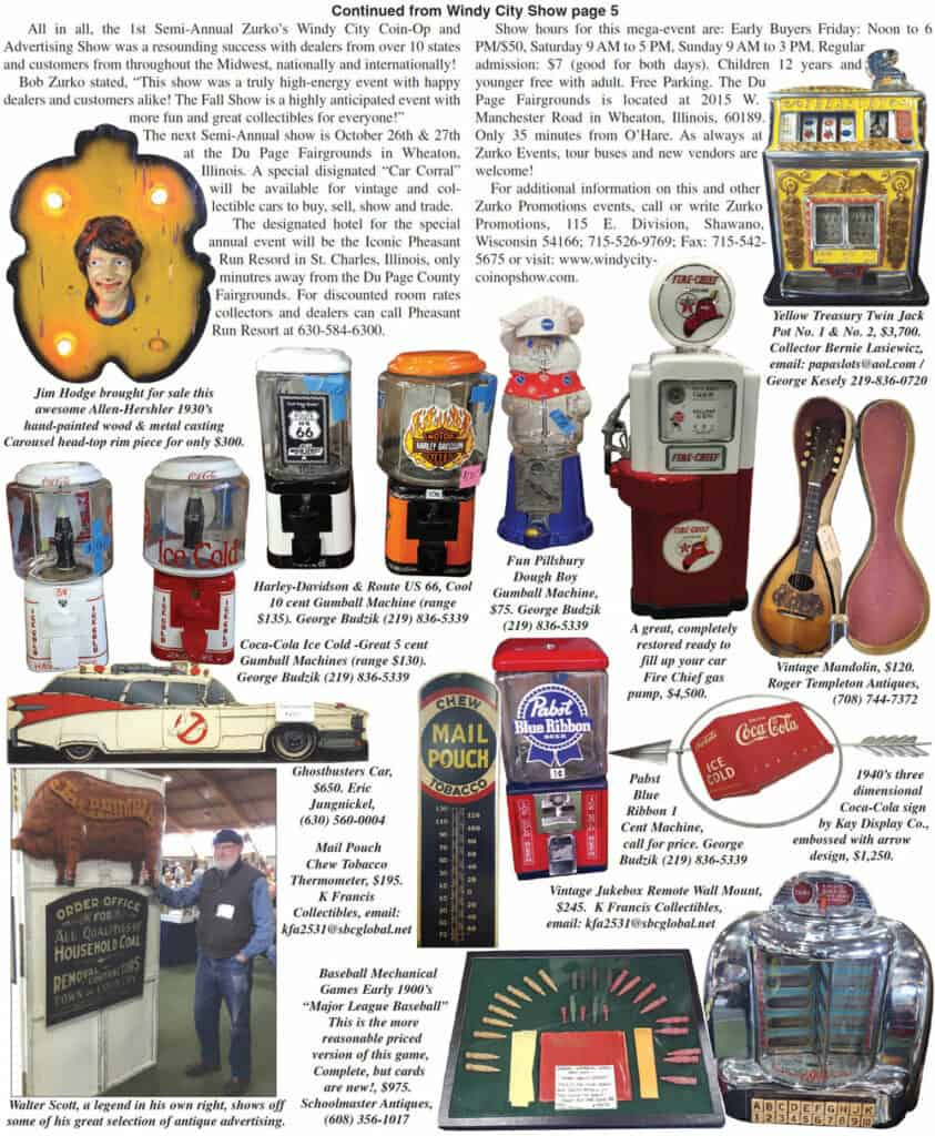 Auction Action article on coin op and antique advertising show