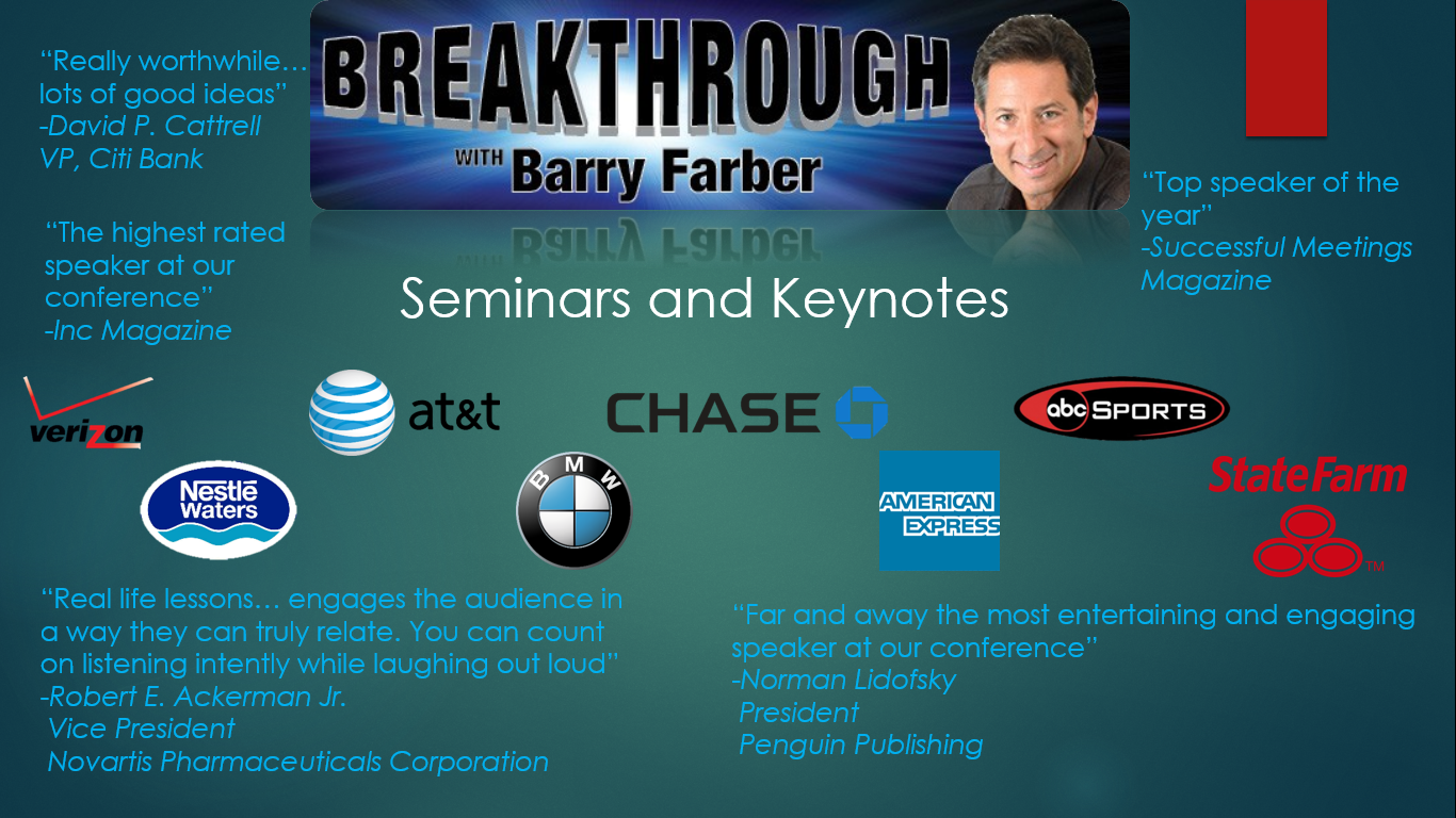 Barry Farber - Featured Speaker