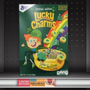 Lucky Charms with Green Clovers & Gold Coins