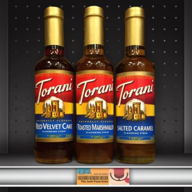 Torani Red Velvet Cake, Toasted Marshmallow, and Salted Caramel Flavoring Syrups
