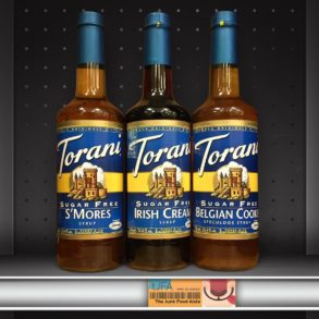Torani Sugar Free S'mores, Irish Cream, and Belgian Cookie Speculoos Flavoring Syrups