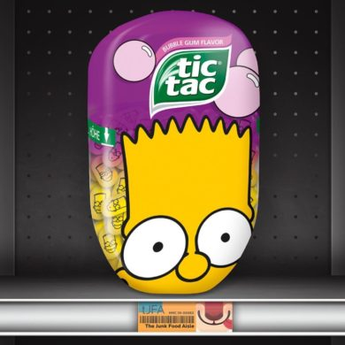 Bubble Gum Flavor Simpsons Tic Tacs