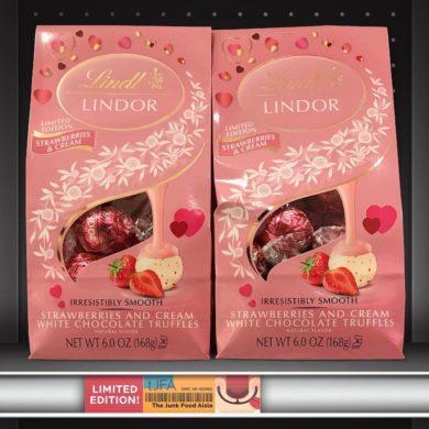 Lindt Lindor Strawberries and Cream White Chocolate Truffles