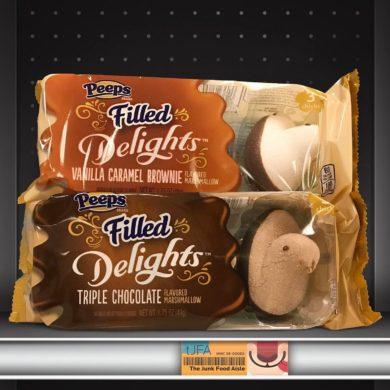 Peeps Filled Delights: Vanilla Caramel Brownie & Triple Chocolate