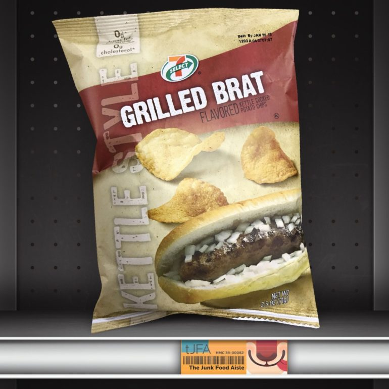 7-Select Grilled Brat Kettle Style Chips