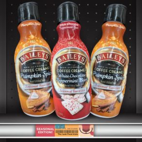 Bailey's Pumpkin Spice and White Chocolate Peppermint Bark Coffee Creamer