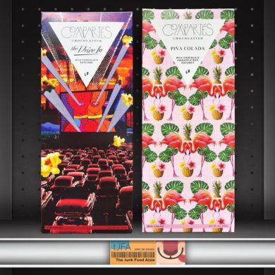 Compartés The Drive In (Popcorn) & Piña Colada Milk Chocolate Bars