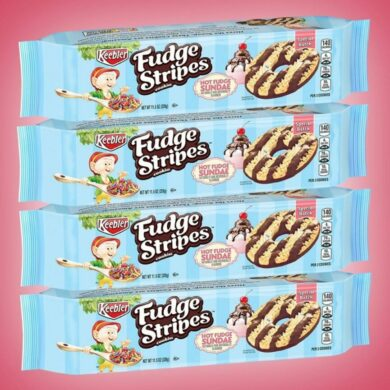 Hot Fudge Sundae Fudge Stripes Cookies!