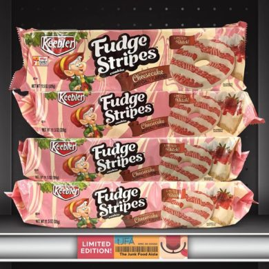 Keebler Strawberry Cheesecake Fudge Stripes Cookies