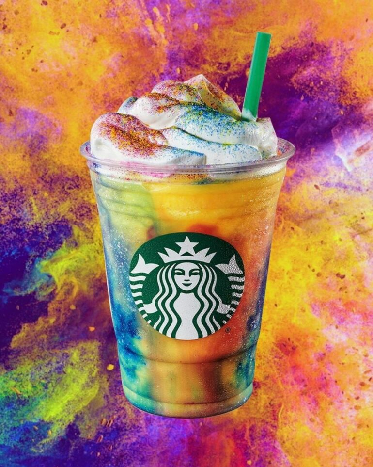 Starbucks Tie-Dye Frappuccino is out today!