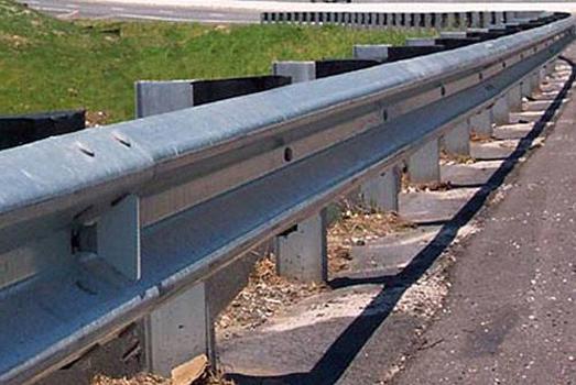 metal guardrail highway