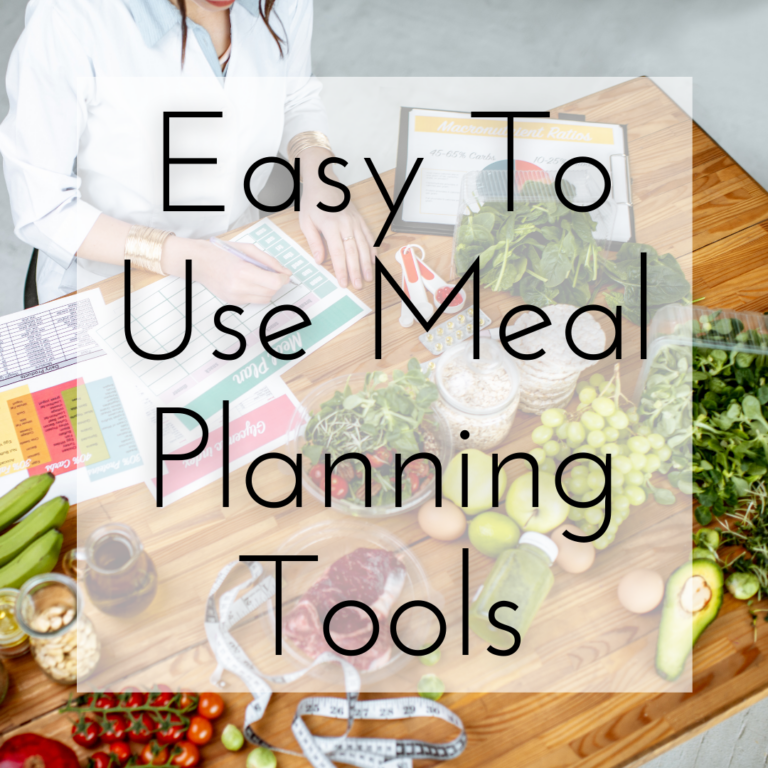 Easy To Use Meal Planning Tools