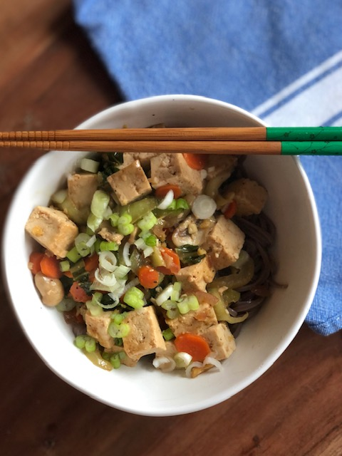 Gingered Tofu and Vegetables