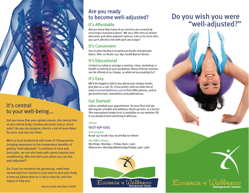 chiropractic pamphlet eaton, oh Adjustments