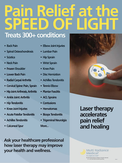 Laser Therapy used at Essence of Wellness Chiropractic Center, Eaton, Ohio