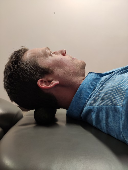 Suboccipital self myofascial trigger point sock