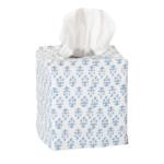 Batik Print Tissue Cover in blue $25 | Amanda Lindroth