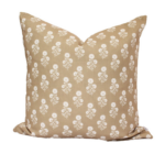 Julia Floral Pillow in camel $84  | Brooke and Lou