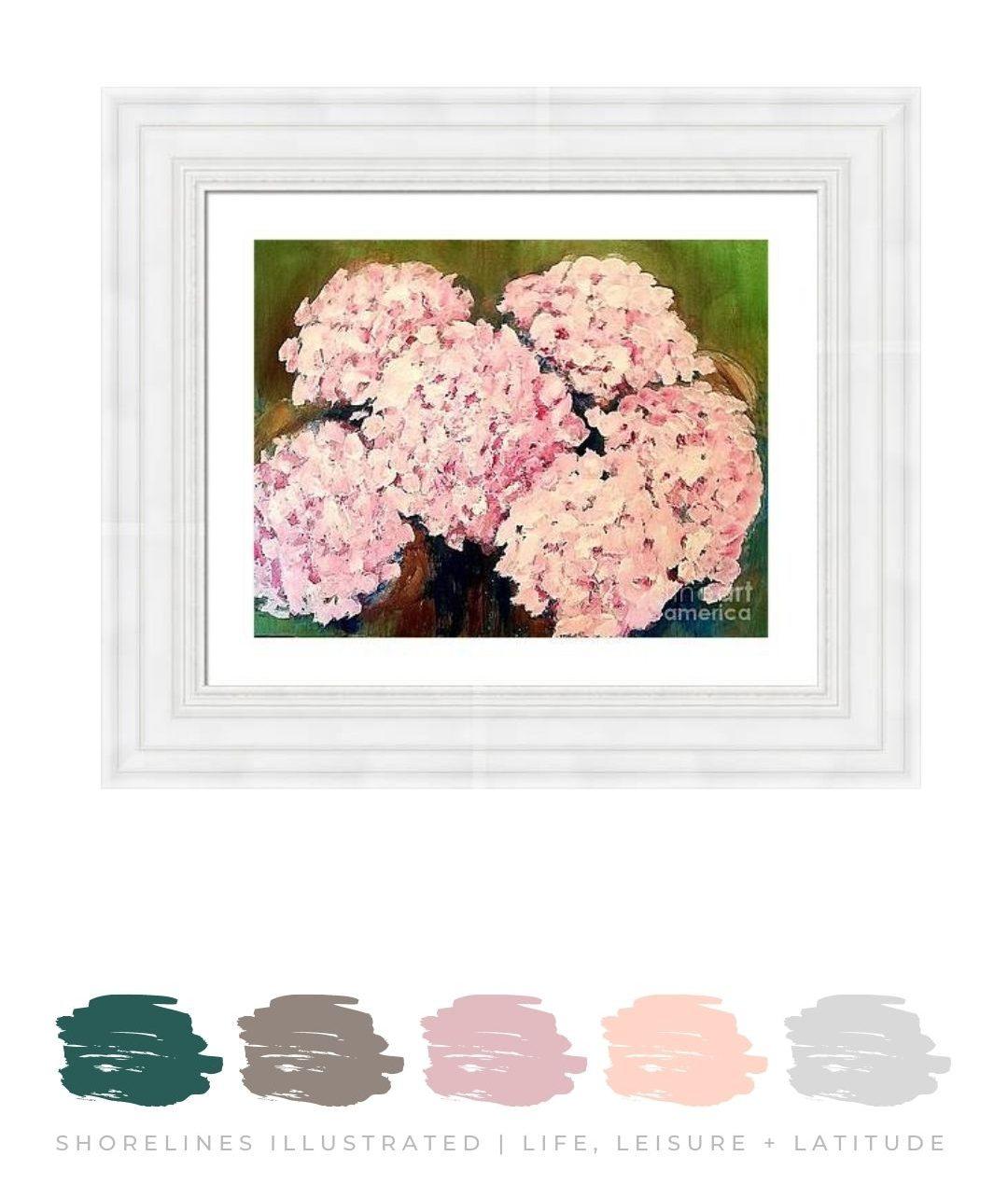 Pink Hydrangea Wall Art from $60   FineArtAmerica.com