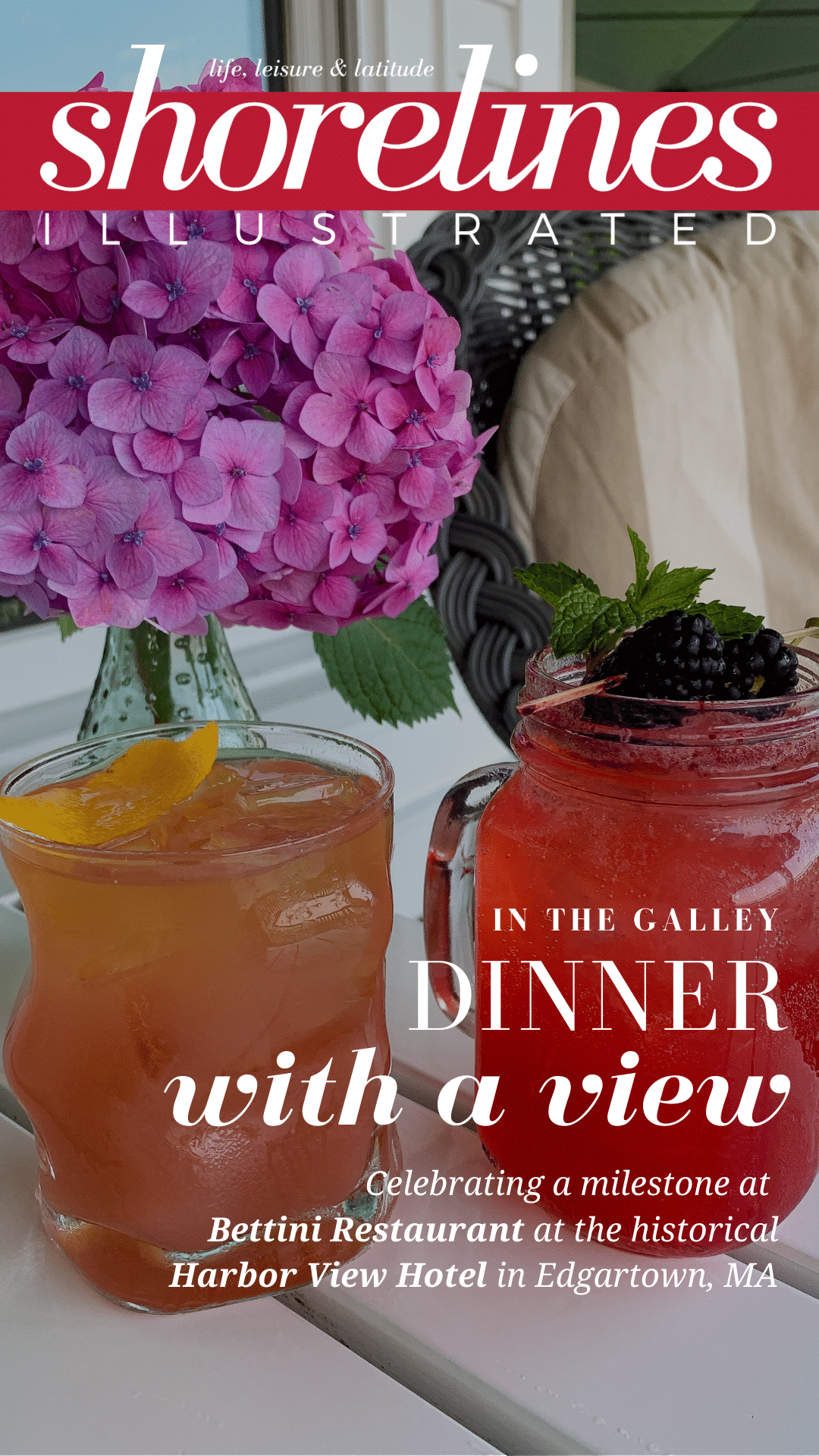 Celebrating a very special occasion at Bettini Restaurant at the Harbor View Hotel in Edgartown Marthas Vineyard