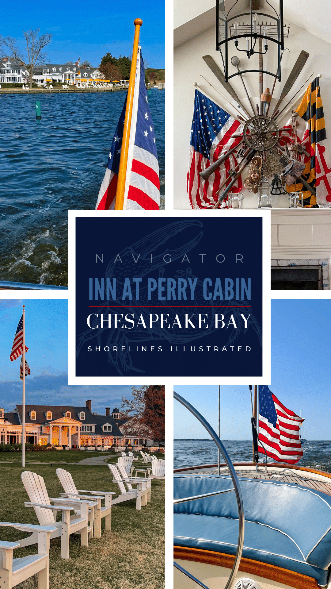 Sailing the Chesapeake Bay at the Inn at Perry Cabin in St Michaels, Maryland