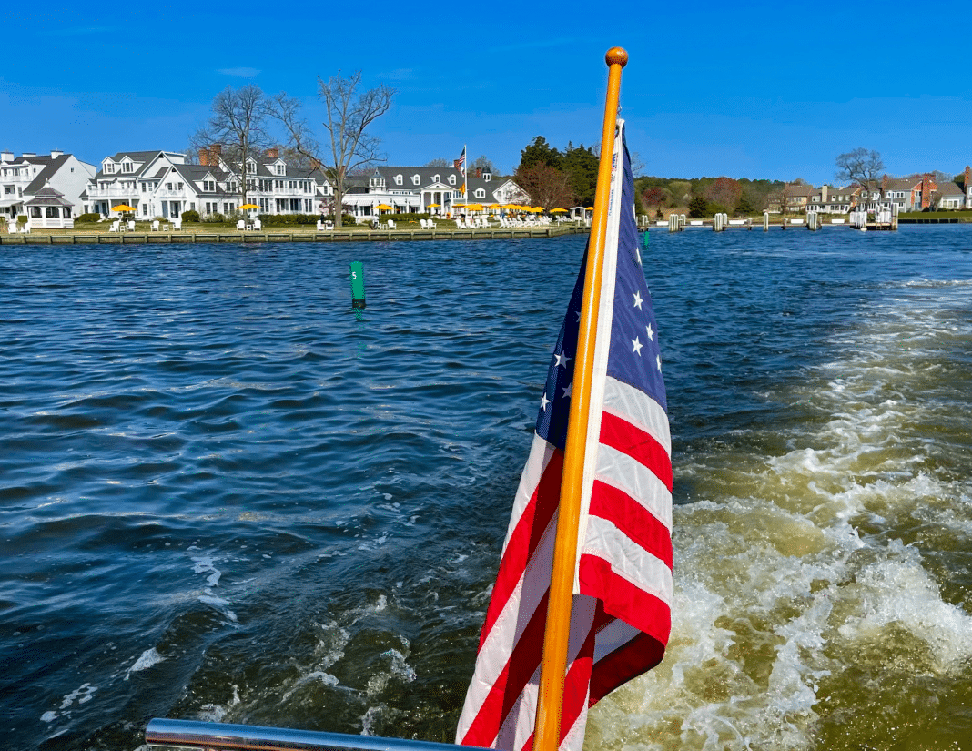 The historic Inn at Perry Cabin in St Michaels, MD welcomes their fleet home as another season on the Eastern Shore on the Chesapeake Bay begins