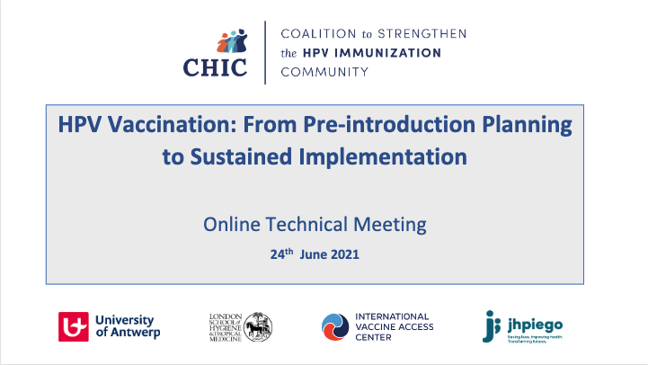 text: HPV Vaccination: From Pre-introduction Planning to Sustained Implementation